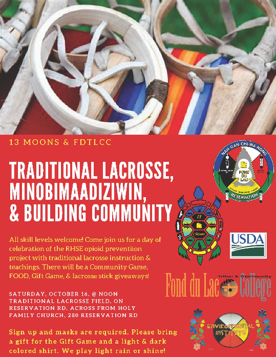 LaCrosse Event, Saturday October 16th