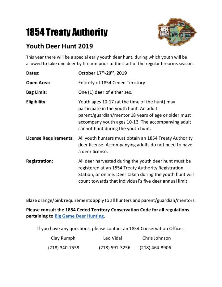1854 Treaty Authority Youth Hunt