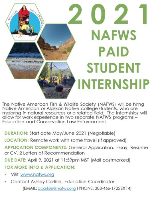NAFWS 2021 Internships