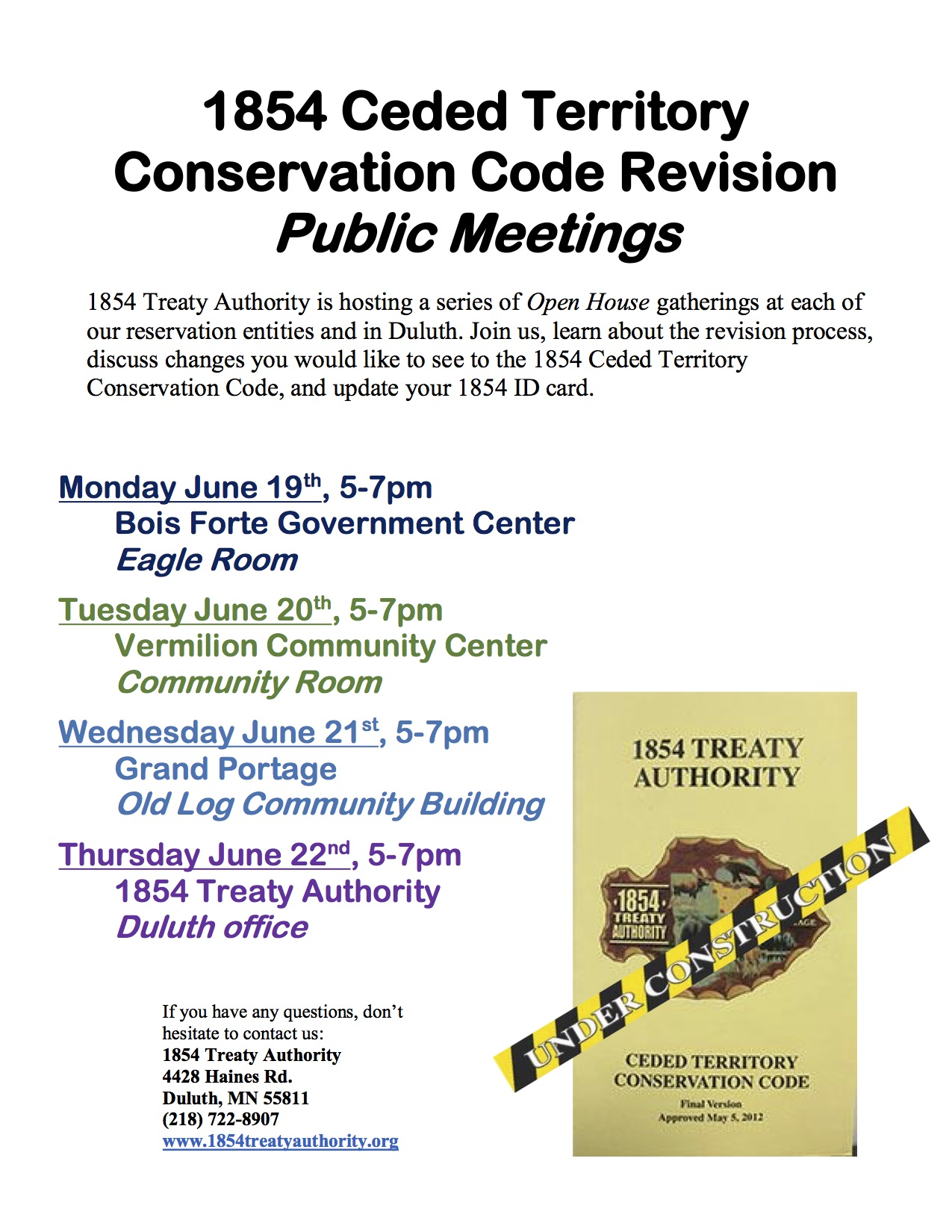 Conservation Code Revision Open House Meetings
