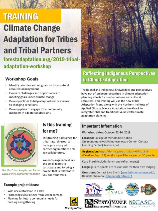 Registration Open: Climate Change Adaptation Workshop