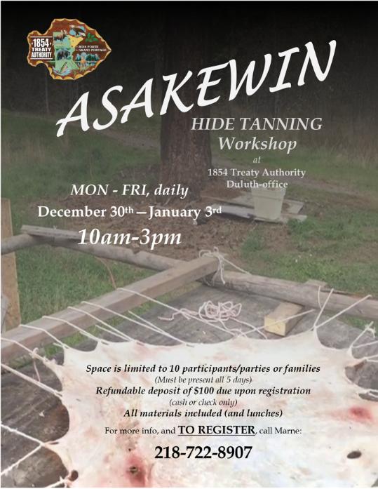 Sign up! Hide Tanning Workshop