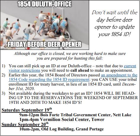 Need an 1854 ID?
