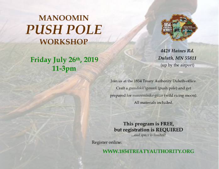 Manoomin Push Pole Workshop
