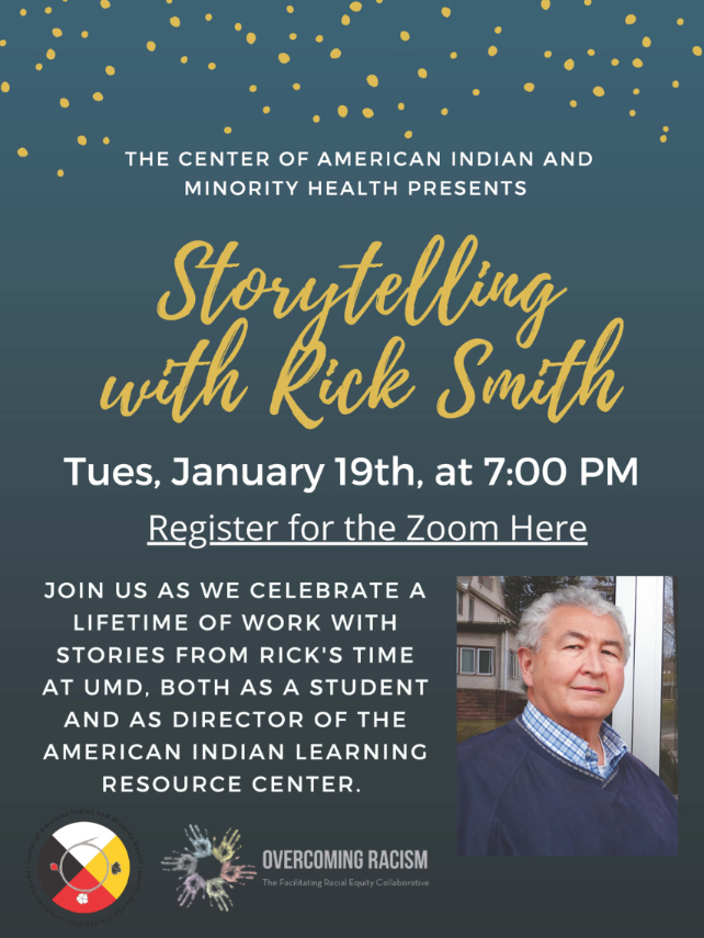 Virtual Storytelling Event, Tuesday January 19th, 7pm
