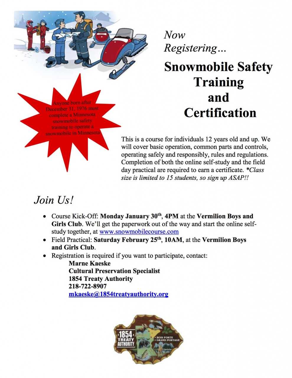Snowmobile Safety Certification Course