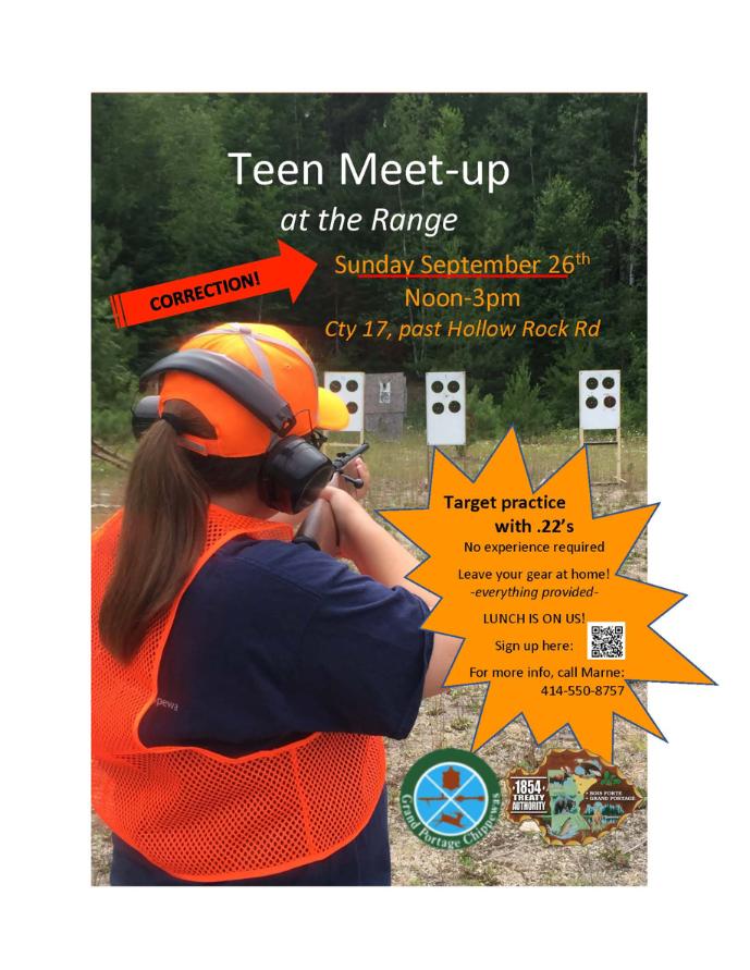 Grand Portage Teen Meet-up at the Range